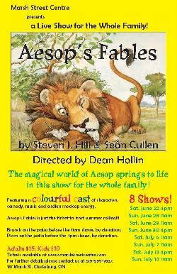 Aesops Fables begin June 22nd at The Marsh Street Centre