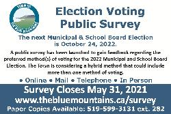 Town Launches Survey to Gain Feedback into Preferred Methods of Voting for the 2022 Municipal and School Board Election