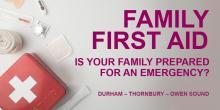 Free Family First Aid sessions coming this spring